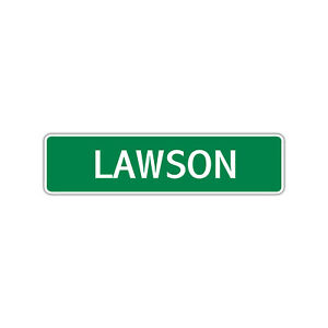 Lawson Boys Name Letter Printed Label Wall Art Decor Novelty Aluminum Metal Sign