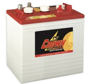 6 Of Crown 6v 235ah Cr235 Golf Cart Battery Rv Solar Deep Cycle Ez go Off grid
