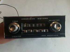 1968 1969 Amx Javelin Radio W Knobs Faceplate