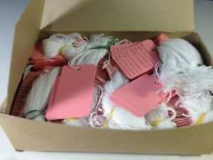 Box Of 900 Pink String Tags Price Tags
