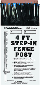 Step In Electric Fence Post Fi Shock A 48b 4 Black 50 Posts Included Heavy Duty