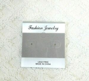 100pcs 2 X 2 Gray Velvet Plastic Earring Ear Studs Holder Display Hang Cards 2
