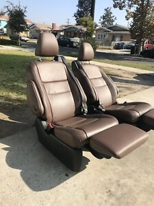 2015 2016 2017 2018 Toyota Sienna 2nd Rear Bucket Seat Recliner Seats Leather