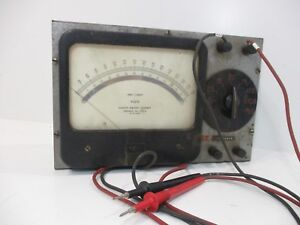 Vintage Simpson Dc Volt Meter With Red black Probes Steampunk Project Untested