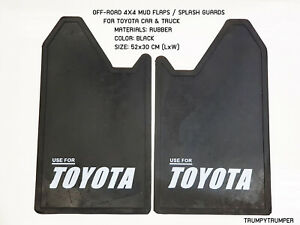 Use For Toyota 4wd 4x4 Off Road Mud Flaps Splash Guards Car Truck Black Rubber