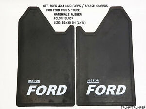 Use For Ford 4wd 4x4 Off Road Mud Flaps Splash Guards Car Truck Black Rubber