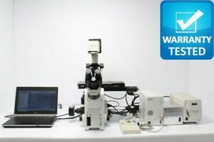Olympus Ix81 Fluorescence Motorized Phase Contrast Microscope Unit3