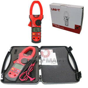 New In Box Uni t Ut207a Clamp Lcd Digital Multi Meter Tester Ac dc Volt Amp Ohm