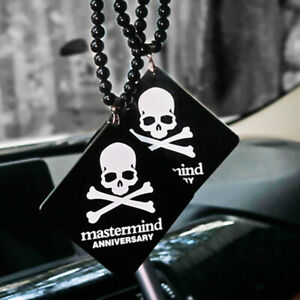 Jp Mastermind Anniversary Skull Car Auto Rearview Mirror Pendant Ornament Black