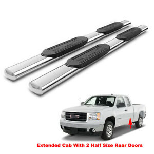 5 Running Boards For 99 18 Silverado sierra Ext double Cab Side Step Nerf Bars