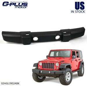 Front Textured Bumper Cover Fog Light Tow Hook Holes For 07 18 Jeep Wrangler Jk
