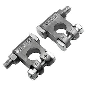 Military Style Battery Terminals Mil Spec Positive Negative Top Post Clamps