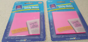 Avery Sticky Notes See Through 3 X 3 Neon Magenta Pink Lot Of 2 50 Per Pack