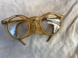 Vintage Willson Folding Safety Glasses Steampunk Retro Industrial Construction