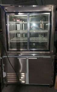 Refrigerated Pie Display Case With Lower Refrigerator By Leader Refrigeration