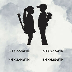 Banksy Girl And Boy Vinyl Sticker Decal For Window Laptop Any Smooth Surface
