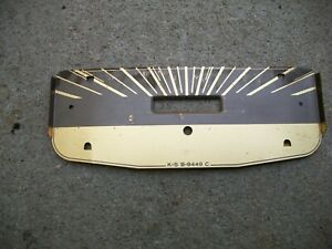 1941ford Deluxe Rare Nos Speedometer Face Plate Molding