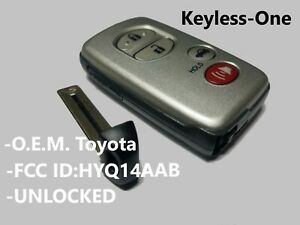 09 10 Toyota Camry Avalon Smart Key Keyless Entry Remote Oem Fob Hyq14aab E Boar