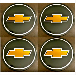 4pcs Chevy Emblem Badge Rally Wheel Center Hub Caps Logo Stickers