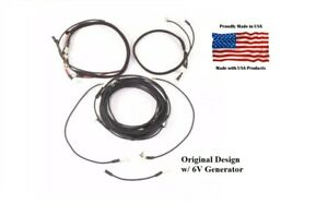 Complete Wiring Harness Ferguson To30 Tractor W 6v Generator