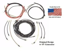 Complete Wiring Harness Ferguson To35 Tractor W 6v Generator