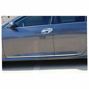 Lower Door Molding For 2012 2014 Toyota Camry 4pc Chrome Premium Fx