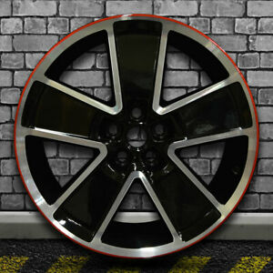 Black With Red Machined Bright Factory Wheel For 2012 2015 Chevy Camaro 21x9 5