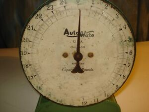 Vintage Auto Wate Scale Kitchen Counter Scale Chicago Capacity 25 Lb By Oz