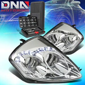 For 2000 2005 Mitsubishi Eclipse Led Halo Ring Projector Headlights tools Chrome