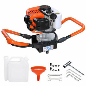 52cc Earth Auger 2 2hp Gas Powered One Man Post Hole Digger Machine