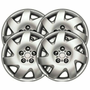 16 Silver Clip on Wheel Covers For 2002 2006 Toyota Camry