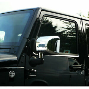 Chrome Mirrors Covers set Of 2 For 2007 2015 Jeep Wrangler