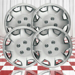 15 Push On Silver Hubcaps For 1998 2002 Honda Accord Qty Four
