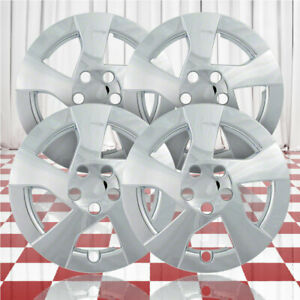 15 Push On Chrome Hubcaps For 2010 2011 Toyota Prius Qty Four