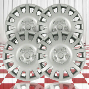16 Push on Silver 14 Spoke Hubcaps For 2002 06 Toyota Camry qty Four