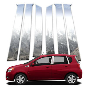 6p Pillar Post Covers Fits 2009 2011 Chevy Aveo Hatchback By Brighter Design