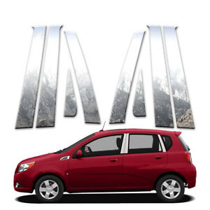 8p Pillar Post Covers Fits 2009 2011 Chevy Aveo Hatchback By Brighter Design