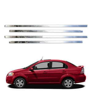 4p Stainless Window Sills Fits 2010 2011 Chevy Aveo Sedan By Brighter Design