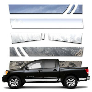 11p 5 1 2 Rocker Panels Fits 04 15 Titan Crew Cab W Tool Box W O Guards By Bd