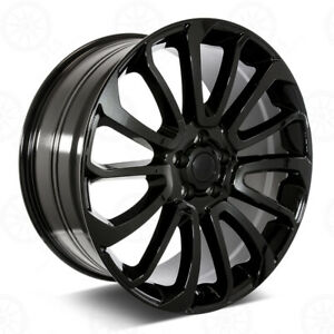 24 Autobiography Style Gloss Black Wheels Fits Land Rover range Rover Hse Lr3