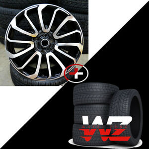 20 Autobiography Style Machined Black Wheels W tires Fits Range Rover Evoque