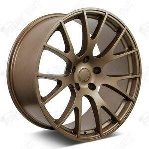 20 Hellcat Style Bronze Wheels Fits Dodge Charger Challenger Magnum