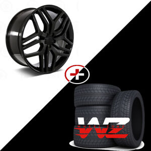 22 Sport Style Gloss Black Wheels W tires Fits Land Rover Range Rover Hse Lr3