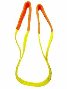 2 Pack 1 X 4 2 Ply Endless Yellow Round Lifting Sling Polyester Sling