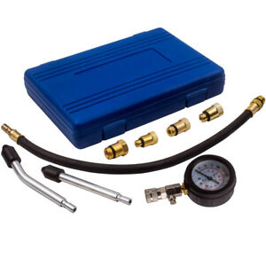 Engine Cylinder Compression Pressure Tester Gauge Test Kit Long Pipe