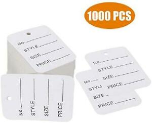 1000 Pcs Price Tags Clothes Size Tags Coupon Tags Making Tag White Store Tags C
