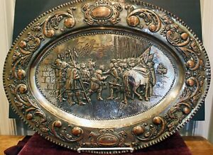 Diego Velazquez The Surrender Of Breda Silver Plate Copper Charger