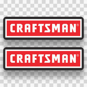 2x Craftsman Sticker Decals Vinyl Logo Equipment Tools Mechanic Toolbox Usa
