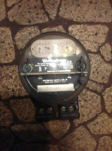 Antique Westinghouse Electric Meter Working Seal Still In Place