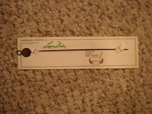 Leonore Doskow Handmade Sterling Silver Cake Tester Vintage New On Card Rare
